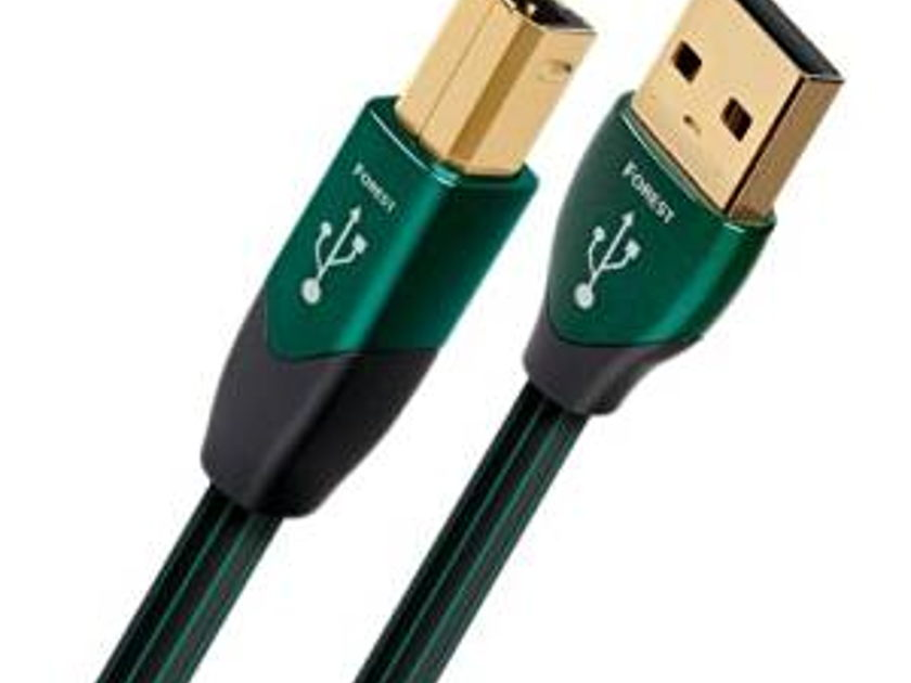 AudioQuest Forest USB Cable __A - B style Connectors 5 meters  Mint