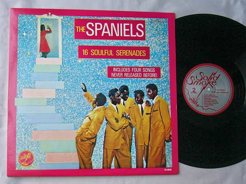 THE SPANIELS LP--16 SOULFUL - SERENADES--superb doo wop soul album on Solid Smoke Records