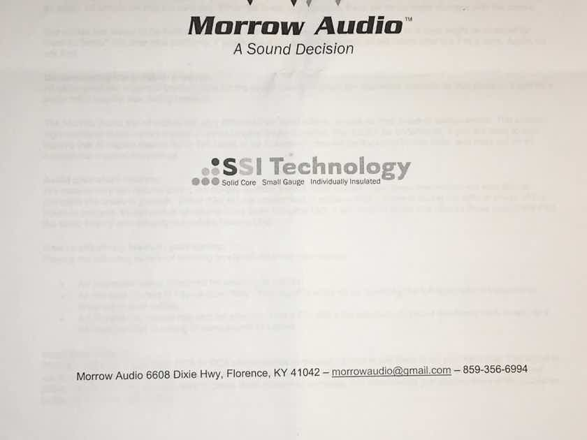 """Morrow Audio Custom MA3 Y Cable OPPO UDP-205 / 1/4"""" TRS to left/right RCAs"""