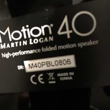 Martin Logan Motion 40 GB