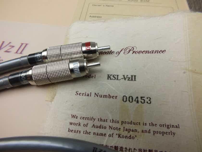 Kondo Audio Note Japan KSL-VzII silver interconnects RCA 1,0