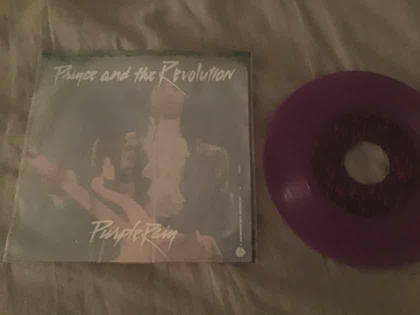 Prince  Purple Rain/God Purple Vinyl 45 With Sleeve