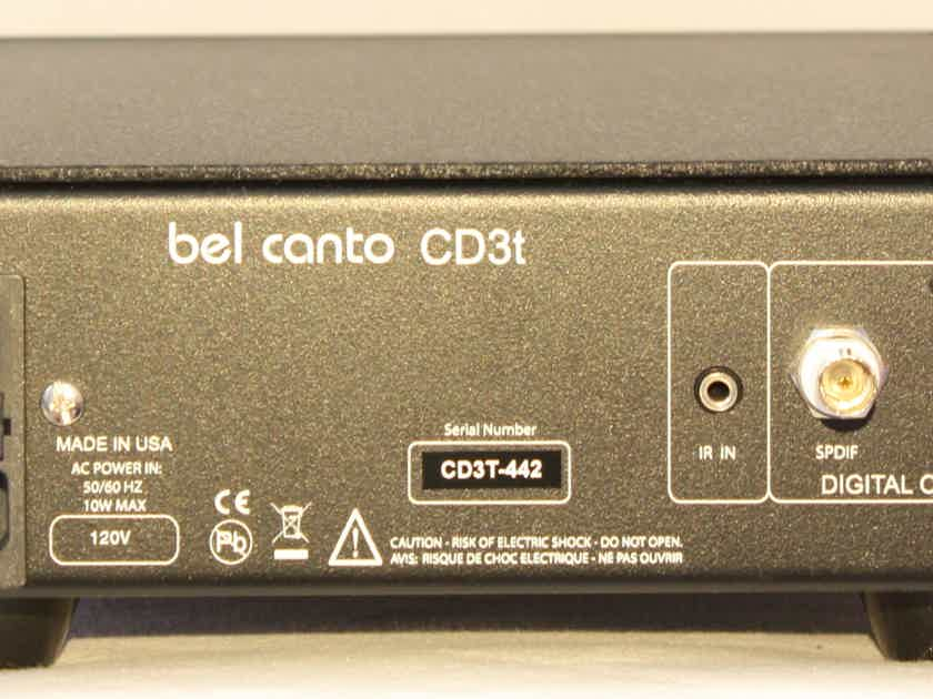 Bel Canto Design CD3T CD Transport. Black, with the new style front.