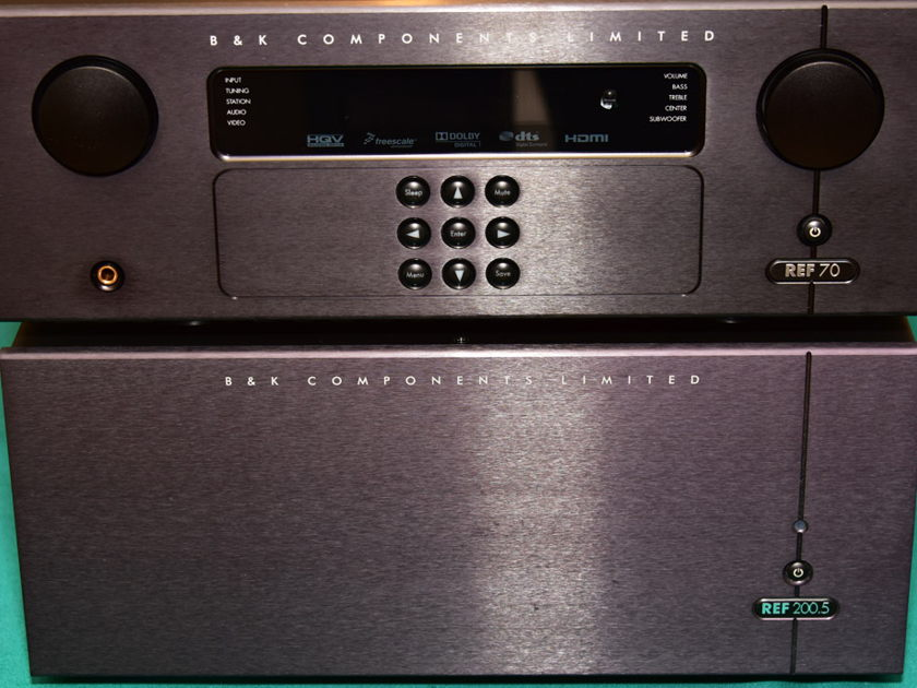 B&K COMPONENTS REF70 / REF200.5 PREAMP PROCESSOR AND AMPLIFIER PACKAGE