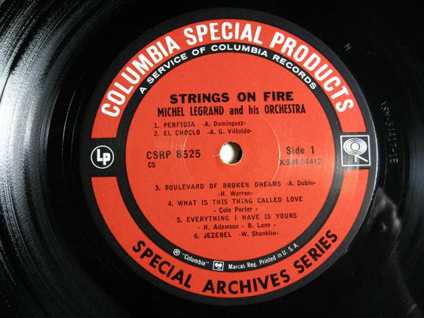 Michel Legrand And His Orchestra - Strings On Fire - Special Archivea Series Columbia Special Products CS 8525