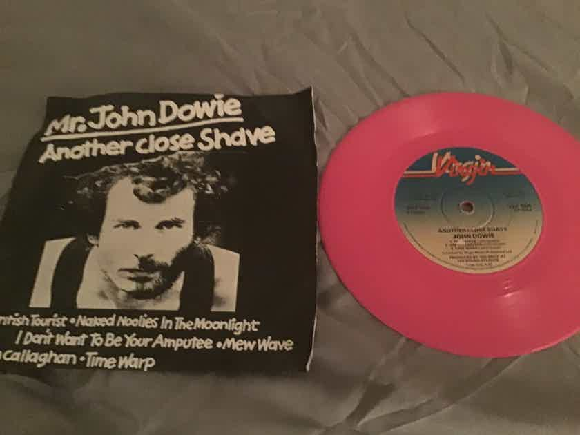 Mr. John Dowie Import Pink Vinyl EP With Picture Sleeve Vinyl NM  Aother Close Shave