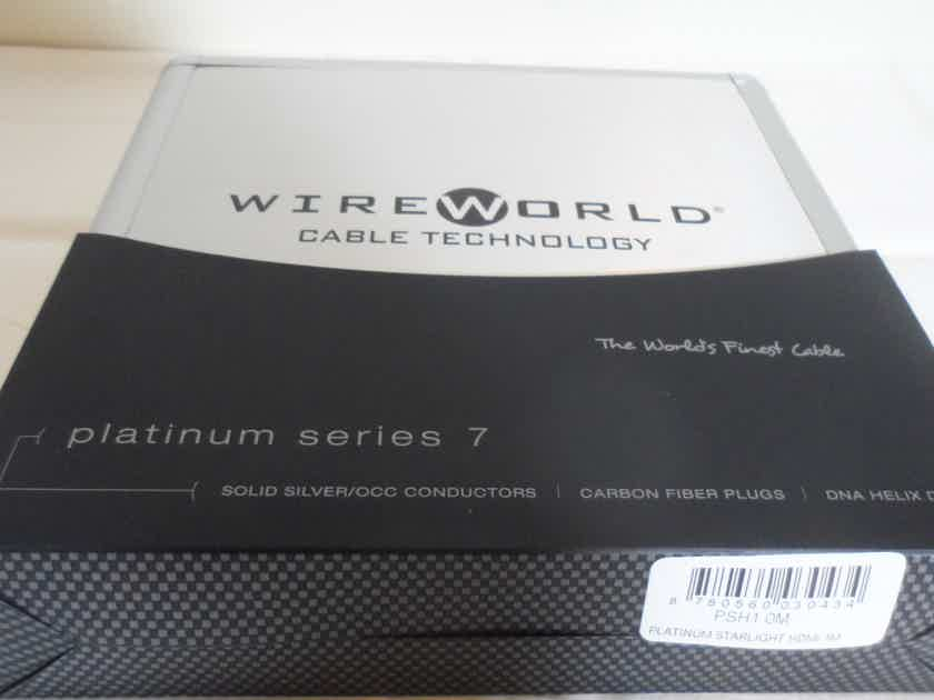 Wireworld Platinum Starlight 7 HDMI Audio/Video 4k/18GBPS/HDR Cable 1M/3.28FT