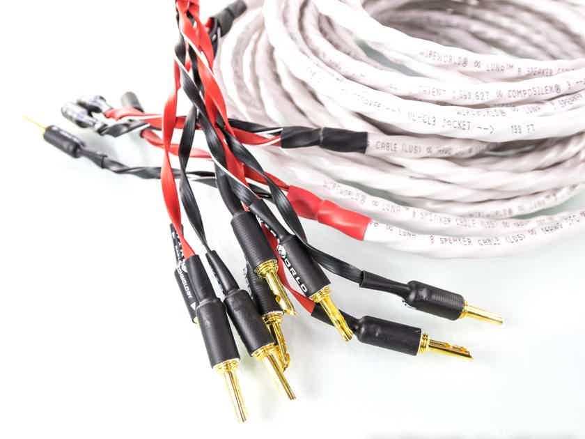 Wireworld Luna 8 Bi-Wire Speaker Cables; 7m Pair (23291)