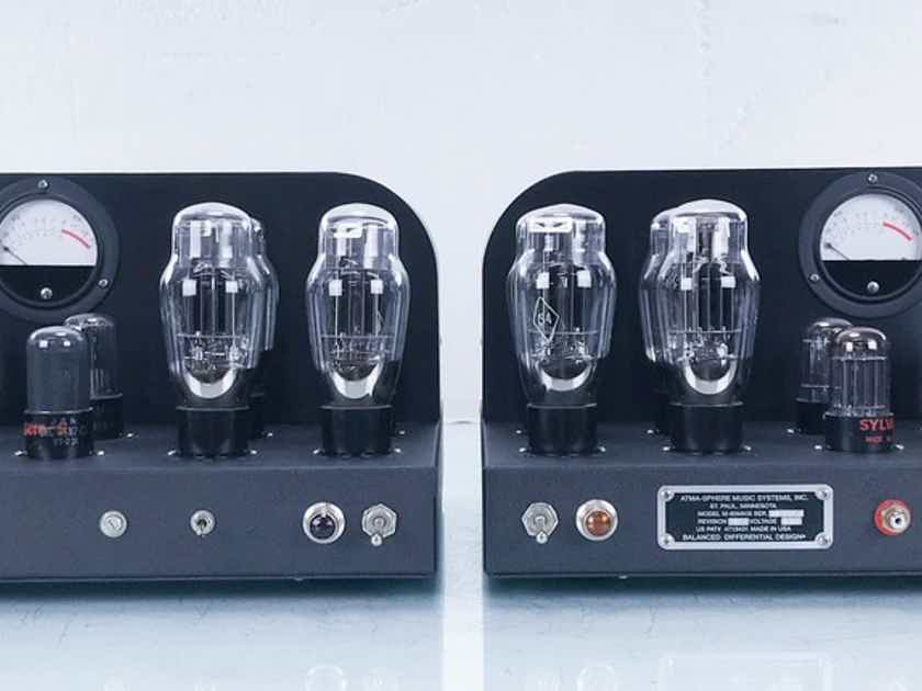 Atma-Sphere M-60 MkIII Mono Tube Power Amplifier OTL; Pair (15521)
