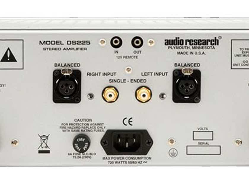 Audio Research DS225 Amplifier, Factory Refurbished, Open Box