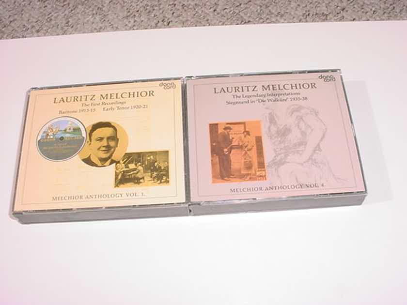 Lauritz Melchior 2 double cd sets - first recordings baritone 1913-15 Early Tenor 1920 anthology volume 1 and Die Walkure 1935-38 vol 4