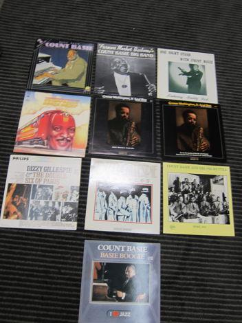 10 Basie, Gillespie, Washington Vintage LPS