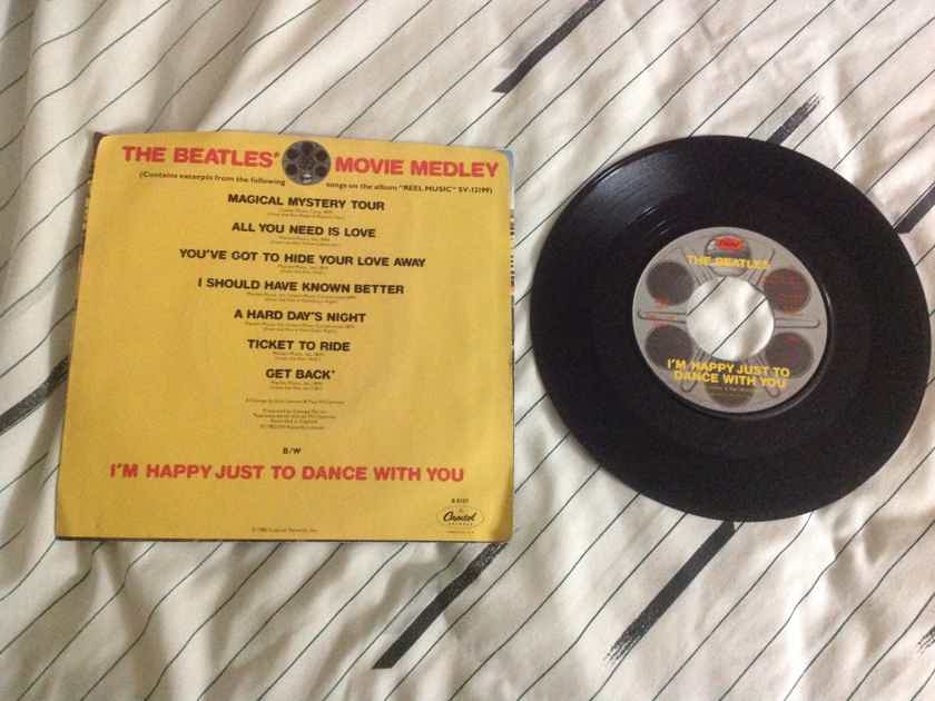The Beatles  - Movie Medley 45 Single With Picture Sleeve Vinyl NM