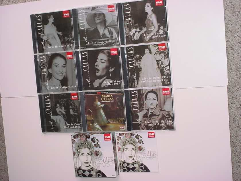 EMI Classics Maria Callas large cd lot 8 live cd's plus operatic Arias & 8 cd box set