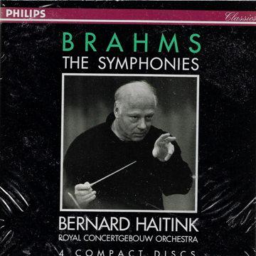 BRAHMS 4 SYMPHONIES, etc Bernard Haitink 4CD Philips
