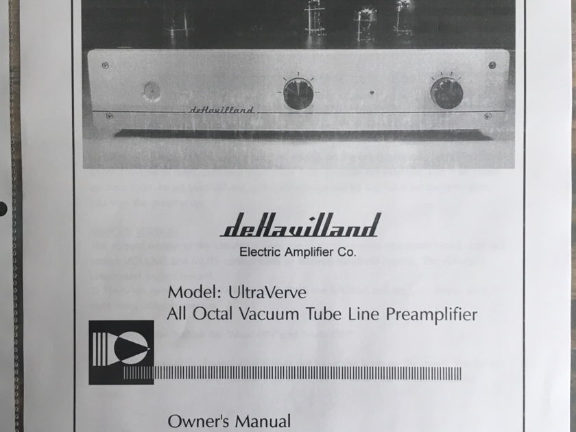 deHavilland Electric Amp UltraVerve Remote   PRE-AMP UV3 (Reduced Price)