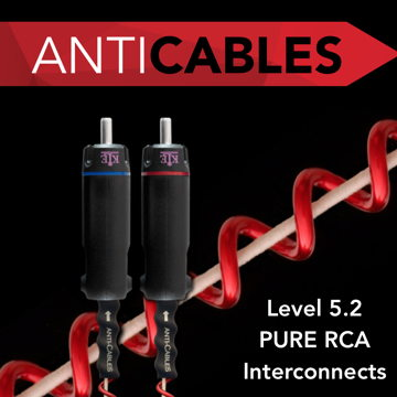 ANTICABLES Level 5.2 PURE Reference RCA Analog Intercon...