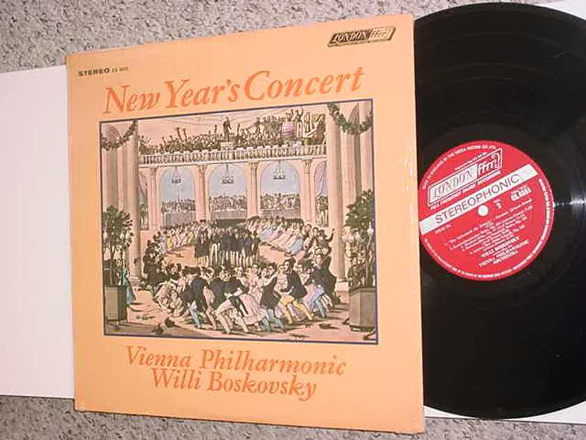 Willi Boskovsky lp record - New years concert  Vienna Philharmonic LONDON FFRR Stereo cs 6555