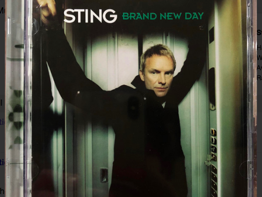"2 Audio CDs - Sting & The Police DTS Digital Surround 5.1 audio cds - ""Brand New Day"" and ""Every Breath You Take"""