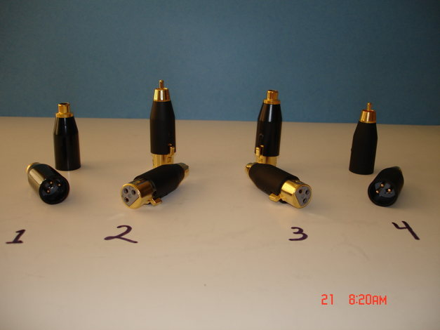 XLR to RCA Adapters