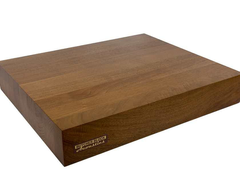 "Butcher Block Acoustics 19"" X 16"" X 3"" Walnut Edge-Grain Audio Platform"