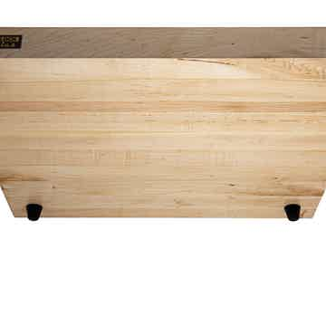 "Butcher Block Acoustics 19"" X 16"" X 1¾"" Maple Edge-Grain Audio Platform W/ ISO-FEET"