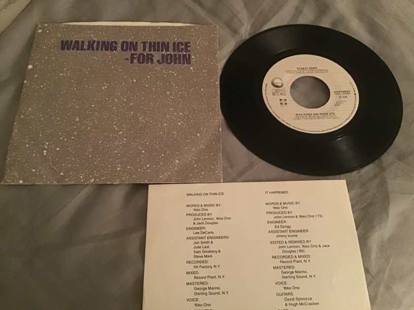 Yoko Ono Walking On Thin Ice 45 With Picture Sleeve Vinyl NM