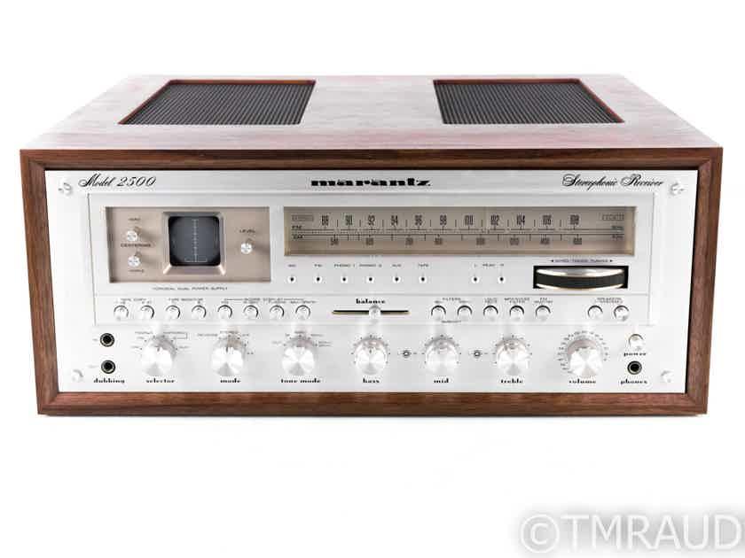 Marantz Model 2500 Vintage Stereo Receiver; MM Phono; Restored; w/ Wood Case (20667)