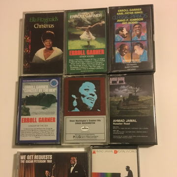 Jazz Errol Ella Oscar Dinah Jamal  Lot of 8 audio cassette tapes