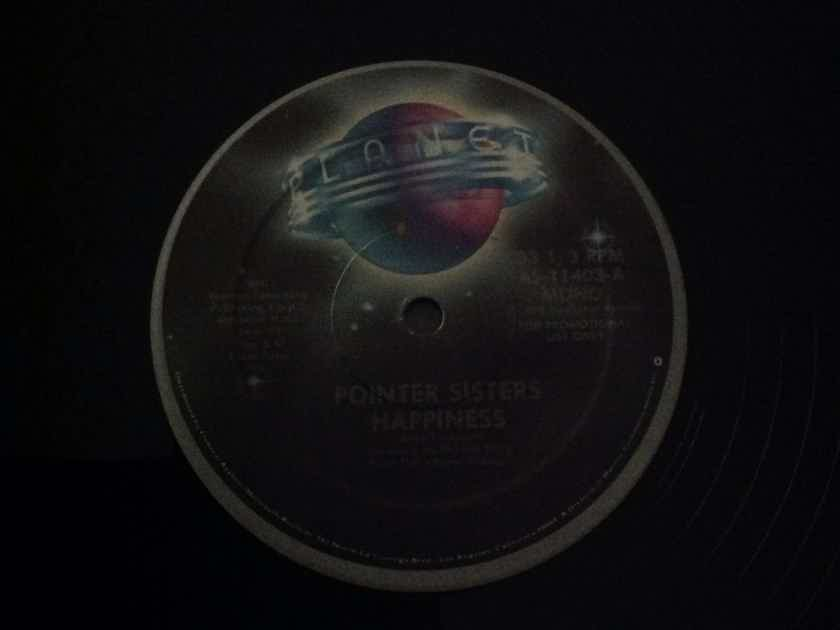 Pointer  Sisters - Happiness Planet Records  Promo 12 Inch Vinyl Single Mono/Stereo