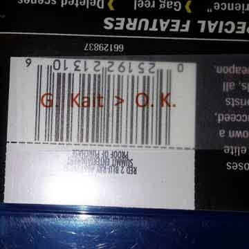 Morphic Message Label on barcode