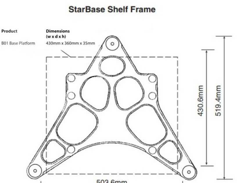 Audiophile Base Starbase 1 Vibration Control Rack stand