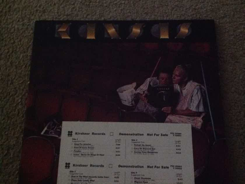 Kansas - Two For The Show 2 LP Set Promo Kirshner Records DJ Timing Strip Vinyl NM