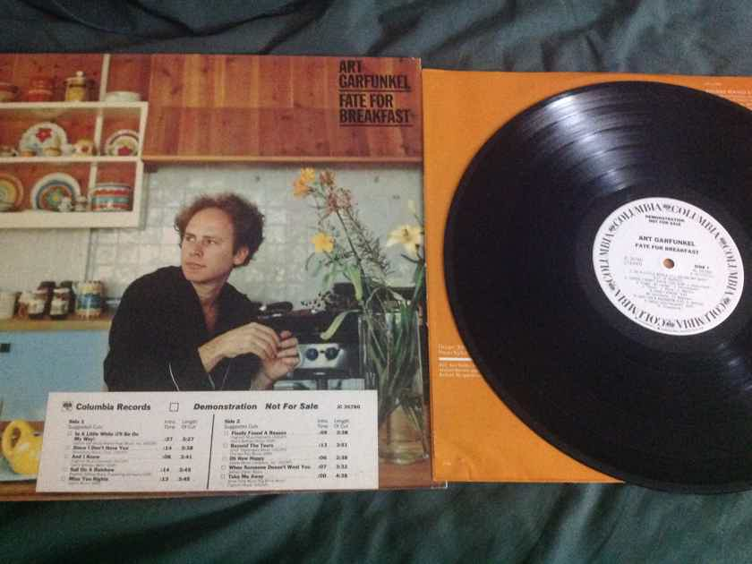 Art Garfunkel  - Fate For Breakfast Columbia Records White Label Promo Vinyl  LP NM