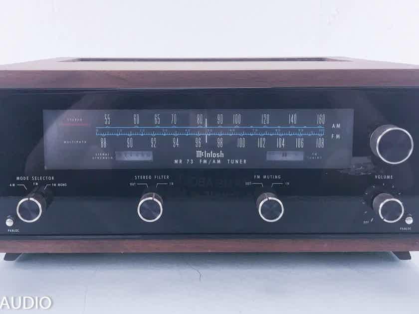 McIntosh MR 73 Vintage AM / FM Tuner; MR73 w/ Walnut Cabinet (11703)