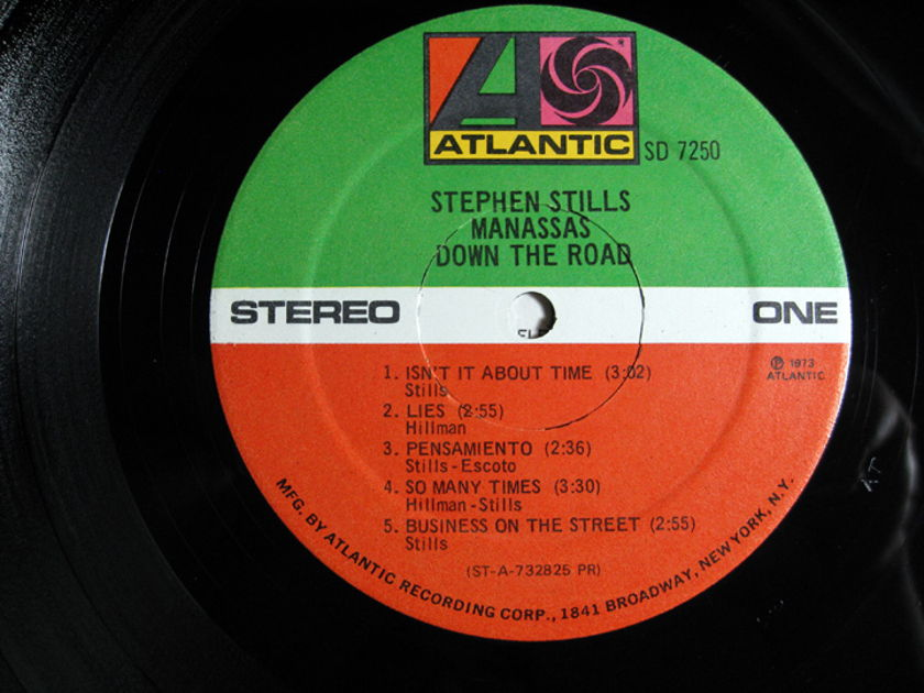 Stephen Stills & Manassas - Down The Road - Original 1973 Presswell Atlantic SD 7250