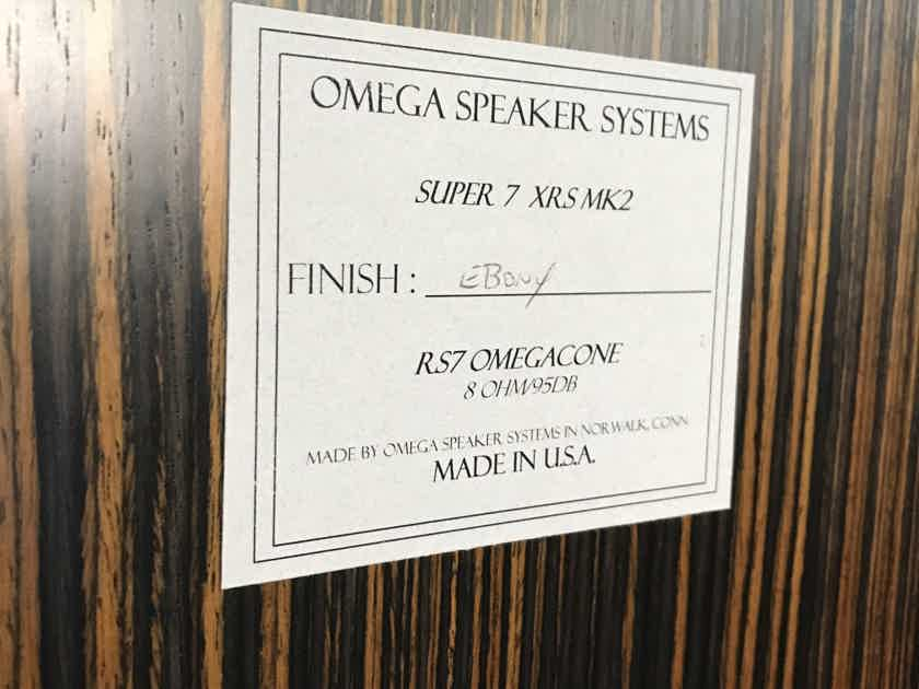 Omega Speaker Systems Super 7XRS MK2 rear mint