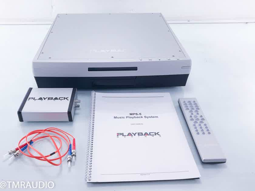 Playback Designs MPS-5 SACD / CD Player MPS5 w/ USB-X Adapter (12780)