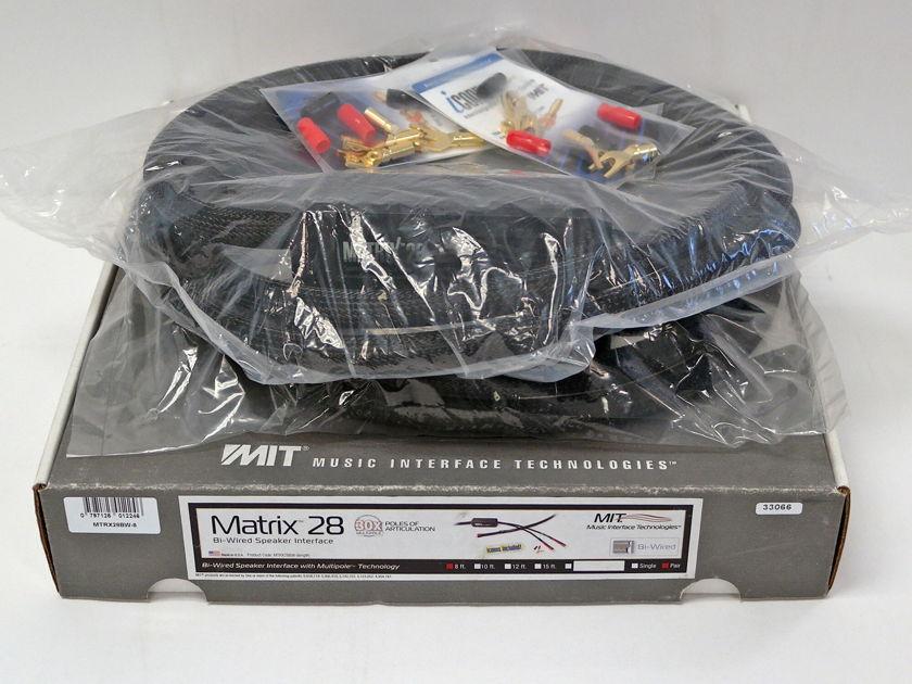 MIT Matrix HD 28 Bi-Wire Speaker Cables, 8ft pair