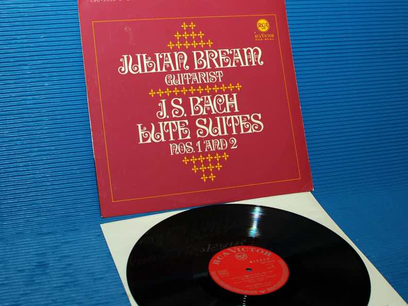 "JS BACH / Julian Bream   - "" Lute Suites 1 & 2"" -  RCA Germany/Teldec 1966"