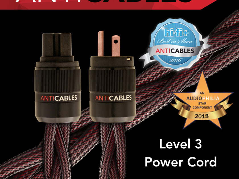 """ANTICABLES Level 3 """"Reference Series"""" Power Cord"""