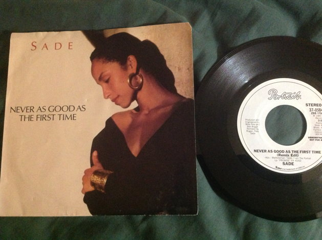 Sade Never As Good As The First Time Epic Records Promo Remix 45
