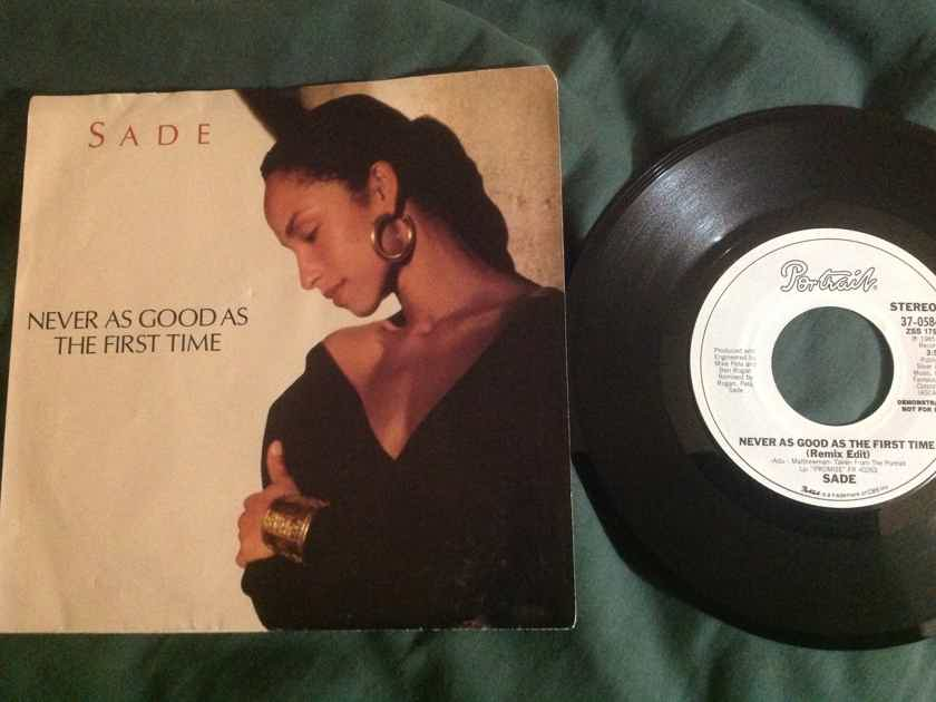 Sade - Never As Good As The First Time Epic Records Promo Remix 45 Edit/LP Version NM With Sleeve