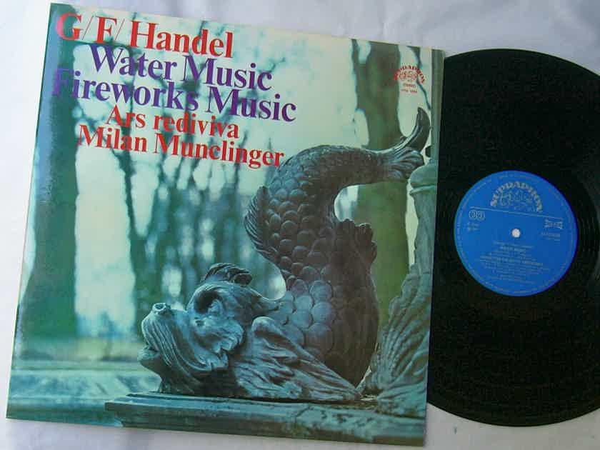 HANDEL LP--WATER - MUSIC / FIREWORKS-- Munclinger--MEGA RARE 1974 album on Supraphon label