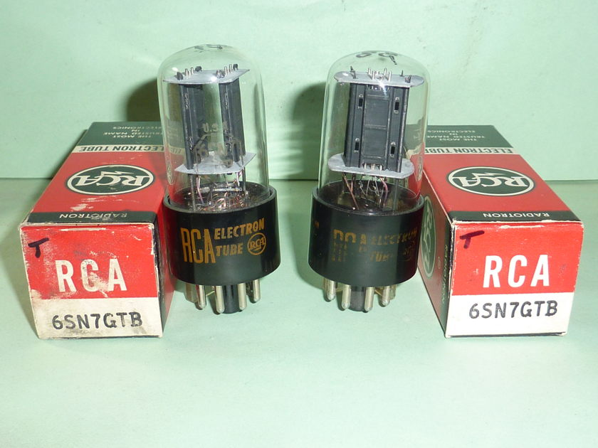 RCA 6SN7GTB 6SN7 ECC33 Tubes, Matched Pair, NOS, NIB, Tested