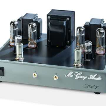 Corner view of McGary Audio SA 1 Vacuum Tube Stereo Amplifier