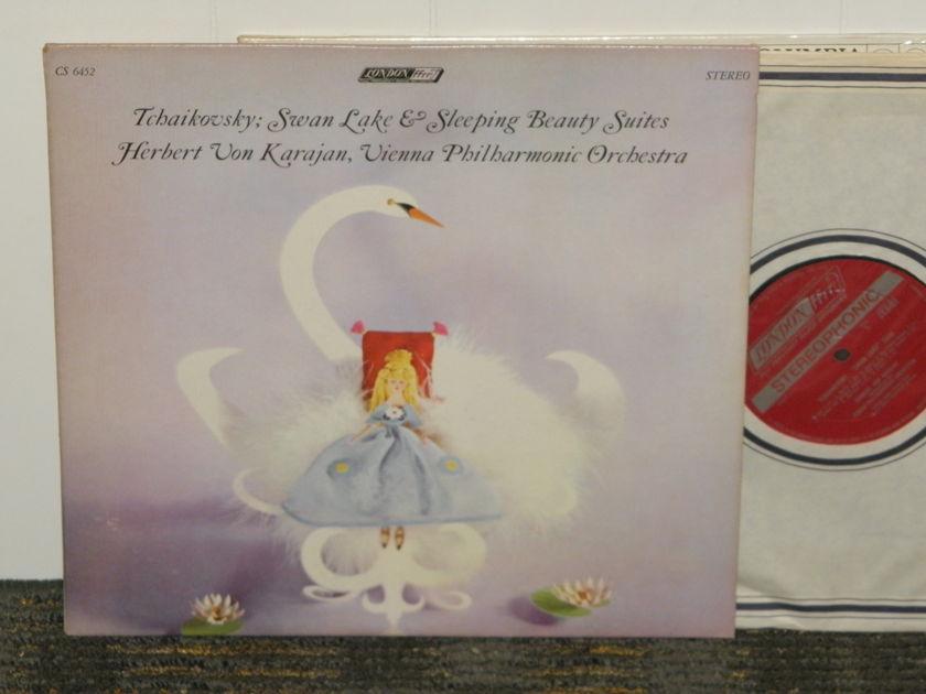 "Herbert Von Karajan/Vienna Philharmonic - Tchaikovsky ""Swan Lake""+""Sleeping Beauty"" London CS 6452 UK Decca 1W/1W matrix"