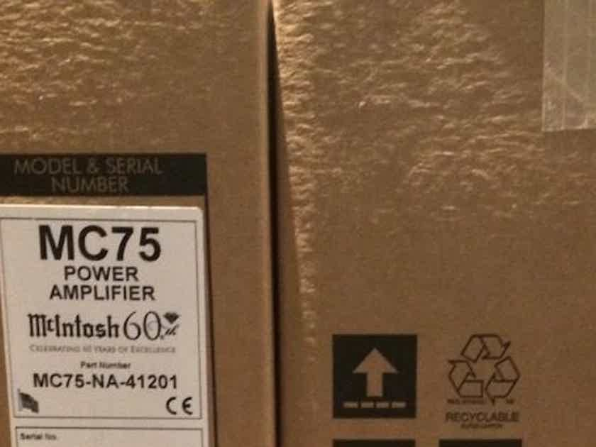 McIntosh MC75 Brand new sealed-Pair 60th anniversary limited gold edition