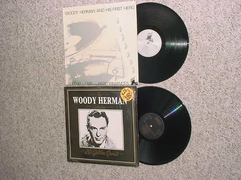 big band jazz Woody Herman 2 lp records - 20 golden greats and  first herd superb live performances