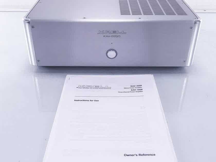 Krell  KAV-2250 Stereo Power Amplifier; Silver (10296)